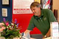 Billy Viger delivering a surprise bouquet!
