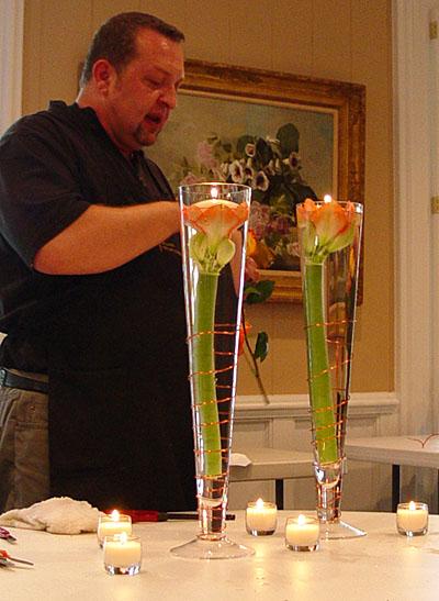 Carithers Flowers contemporary vase flower arrangements