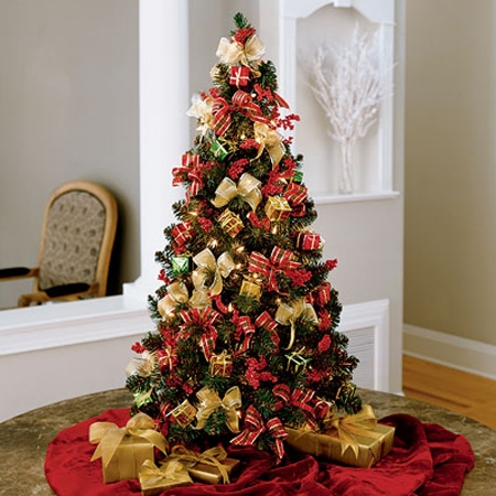 christmas tree - Christmas Tree Flower Decorations