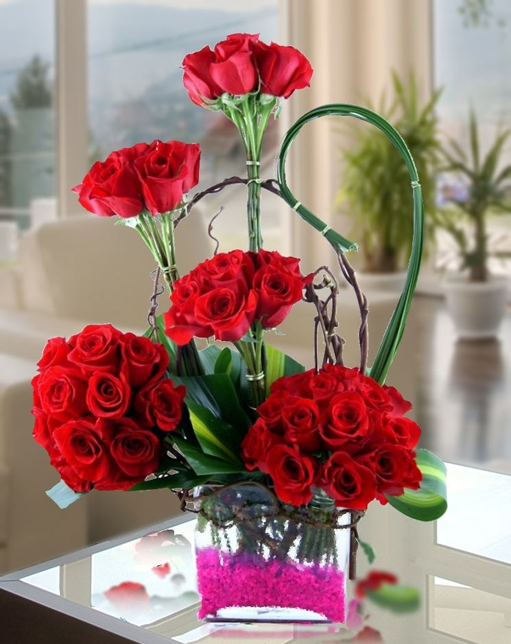 stunning valentine's day flower arrangements await online and in, Ideas